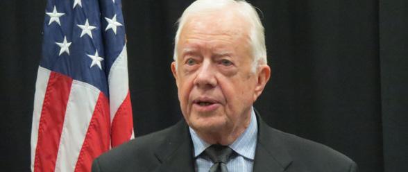 El expresidente Jimmy Carter, fundador del Centro Carter con sede en Atlanta.