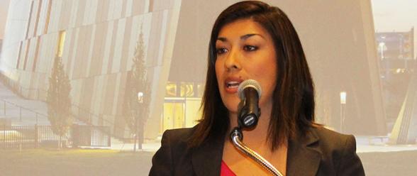 La spirante al senado federal Patricia Flores
