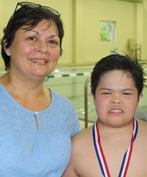 Erenia Castillo, con su hijo Jason