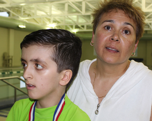 Hortensia Blansie, con su hijo Javier